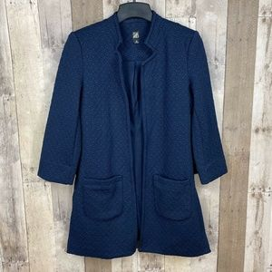 3/$25🛍️ Roz & Ali Textured Long Blazer Jacket